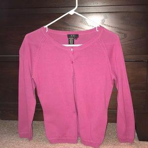 Bcbg hot pink cardigan